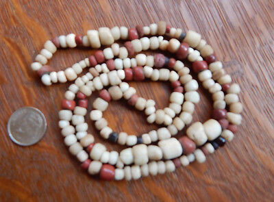 Antique Hudson Bay Indian Trade Beads Found California Necklace 26 Inches
