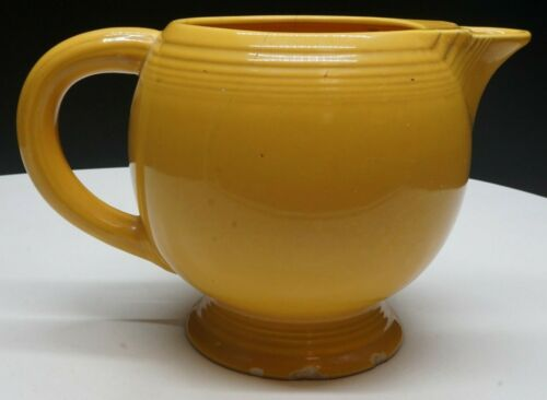 "Vintage Fiesta Fiestaware 6"" Tall Yellow Ice Pitcher"