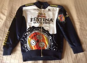 Festina Peugeot vintage winter cycling jacket
