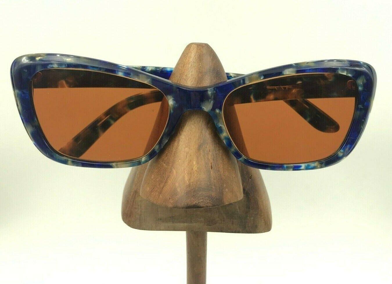Zenni Blue Oval Cat Eye Sunglasses FRAMES ONLY