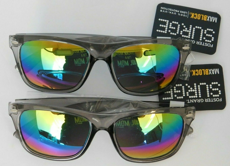 Lot of 2 - Foster Grant Sunglasses SURGE 42 Gray Translucent