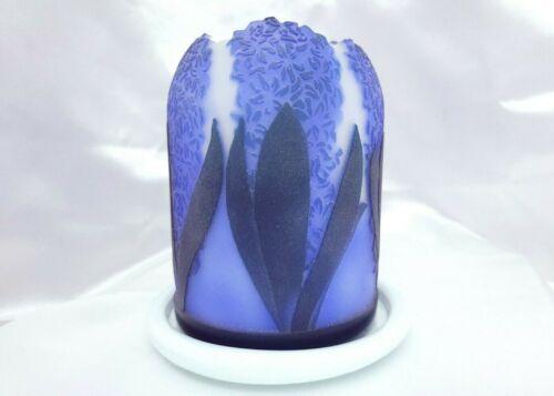 "Kelsey Murphy / Pilgrim ""Hyacinth"" Cameo Sand Carved Fairy Lamp/Light/Luminary"