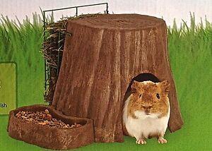 CHINCHILLA,DWARF RABBIT,GUINEA PIG 'TREE OF LIFE' HUT WITH FREE ALFALFA CUBES!
