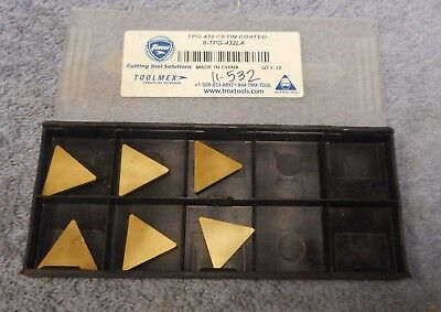 Toolmex  Carbide Inserts  Tpg -432 La Grade C5 Tin  Pack Of 3