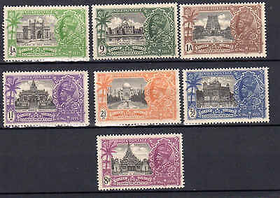 1935 India Sc 142 148 Sg 240 246   Silver Jubilee  Set Of 7   Kgv Mnh  984 1