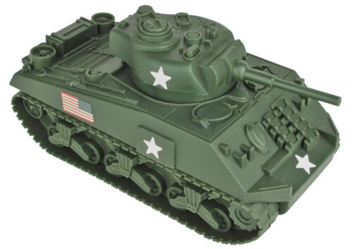 BMC #49990 - Sherman Tank with decals - unpainted 54mm plastic toy soldiers