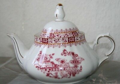 KRONESTER Bavaria Porzellan CHINA ROT  TEEKANNE  Top Zustand