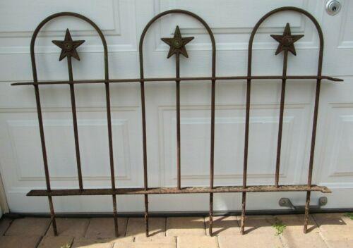Vintage/Antique Iron Gate Fence Section W/Stars Garden/Landscape Architecture