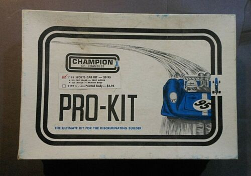 1/24 Champion of Chamblee Ford GT Slot Car Sports Car Pro-Kit #1195- Sealed Rare