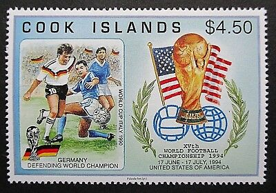 Cook Islands 1994 World Cup Footbal.Single Stamp Issue. MNH.