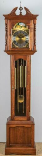 Emperor Chippendale Style Grandmother Clock Tall Case Clock Williamsburg Style