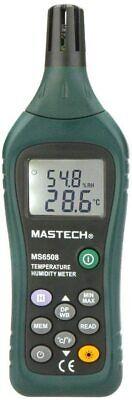 Mastech Ms6508 Thermo-hygrometer Digital Temperature Humidity Moisture Meter Usa