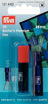 Premium Fino Quilter's Agujas, 26mm, Costura Patchwork Acolchado Prym 121440