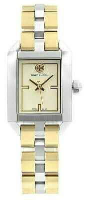 TORY BURCH AUTHENTIC DALLOWAY, TWO TONE STAINLESS LADIES WATCH TBW1102 NIB/WTAG