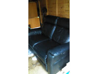 Leather Elec Reclining Couch - £50