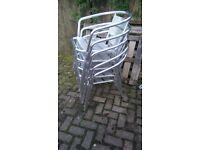 5 Aluminium bistro chairs stackable