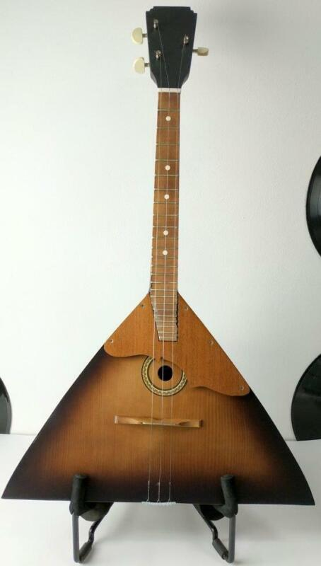 Balalaika Russian Original 3 Strings Prima Wooden Vintage Musical Балалайка USSR
