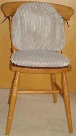 8 Zippy Jumbo Cord Small Beige Dining Chair Cushion Seat Pads