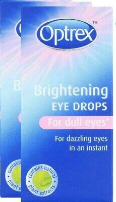 Optrex Brightening Eye Care Drops 10ml For Dull Eyes Pack of 2 - Optrex Eye Care