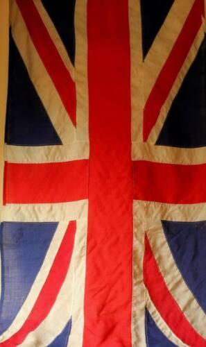 Vintage Union Jack. Decorative Antique Stitched Panel Flag. 6ft 2 Yard