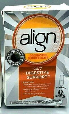 Align Probiotic 24/7 Digestive Support, 42 Capsules, Exp 8/22+ (Damaged Box)