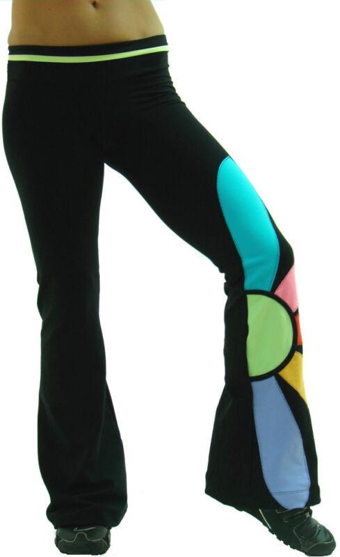 Margarita Daisy Pant Activewear Yoga NWT Supplex S M L Black 510 Workout Dance