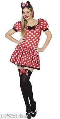 Kostüm Erwachsene Damen Minnie Rot XL 44 Maus Zeichentrick Disney (Disney Kostüm Zeichen)