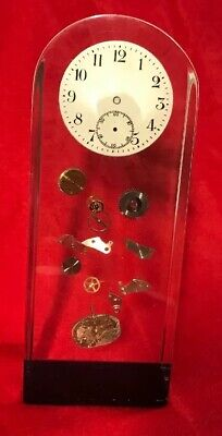 Pop Art Lucite Sculpture Exploded Clock Inclusions The Style Of PIERRE GIRAUDON