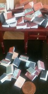 dolls-house-miniature-books-Ecclesiastical-job-lot-of-40-books-1-12th-scale