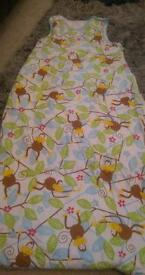 Monkey sleeping bag 2.5 tog 18-36 months