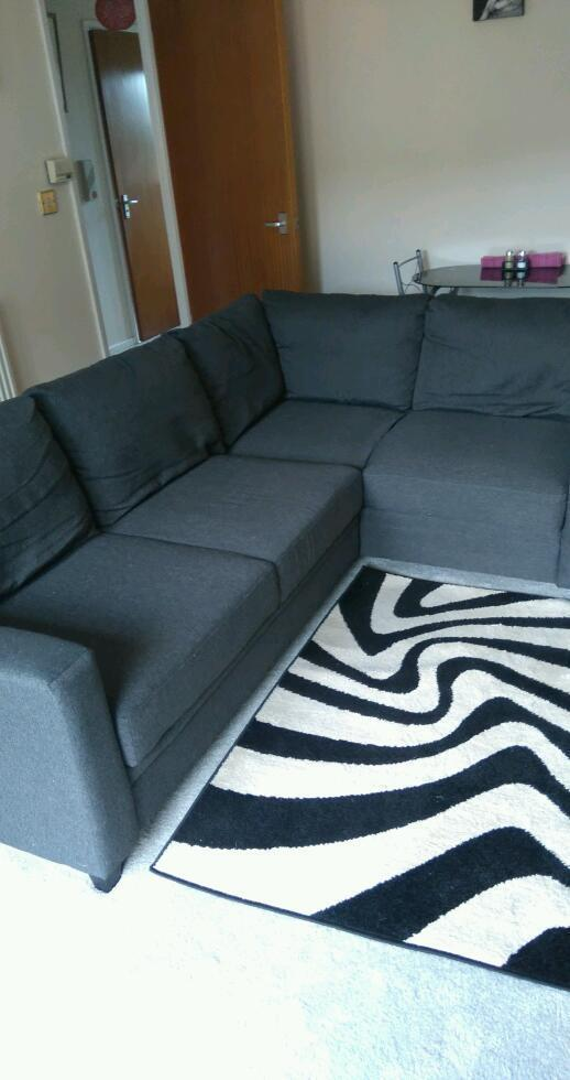 Sofa Bed, Hygena Seattle Corner Sofa Bed In Charcoal