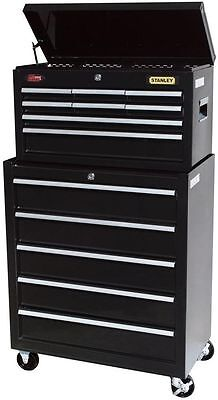 Stanley 13-Drawer Rolling Steel Tool Box Cabinet Mechanic Storage Chest Lock Key