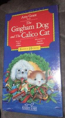 The Gingham Dog and the Calico Cat (Christmas VHS) told by Amy Grant  Rare New