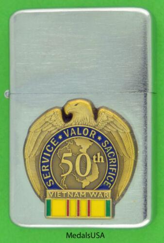 VIETNAM WAR PREMIUM LIGHTER & GIFT BOX MBC 140 VCM  50th ANNIVERSARY