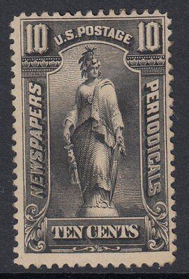 UNITED STATES NEWSPAPER STAMP : 1895 10c black Scott #PR105 unused some gum