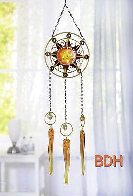 Traumfänger Dreamcatcher Fensterbild Sonne Glas 80 cm Windspiel Esoterik NEU