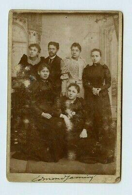 Vintage Schrank Karte Gruppe Foto Familie von Brüder & Schwestern Modisch - Schwester Bruder Kostüm