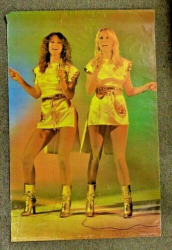 RARE Vintage 1978 ABBA Original Large POSTER Anni-Frid & Agnetha sexy # 23/P3189