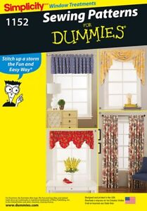 Simplicity Homeware Easy Sewing Pattern 1152 Curtains & Window Treatments...