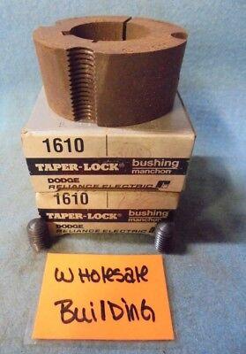 """DODGE 117160 TAPERLOCK BUSHING 1610 1-3/16 KW, 1-3/16"""" BORE, 2-1/4"""" OD, LOT OF 2"""