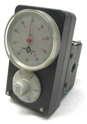 Nice Swi Trav-a-dial .001 Travel Dial Readout W Mounting Base - 6a