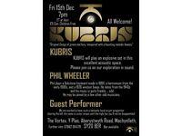 KUBRIS plus Special Guests live at The Vortex, Y Plas, Machynlleth, 7pm Fri 15 Dec.