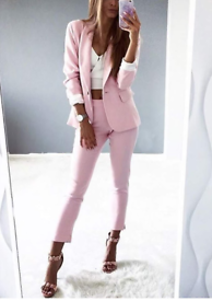 Mosquito dusty pink jacket and (cigarette trousers) set, size M.