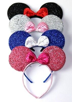 4  Minnie Mouse headbands with Bow-Mickey Mouse Ears Headband Disney  - Mickey Headband Ears