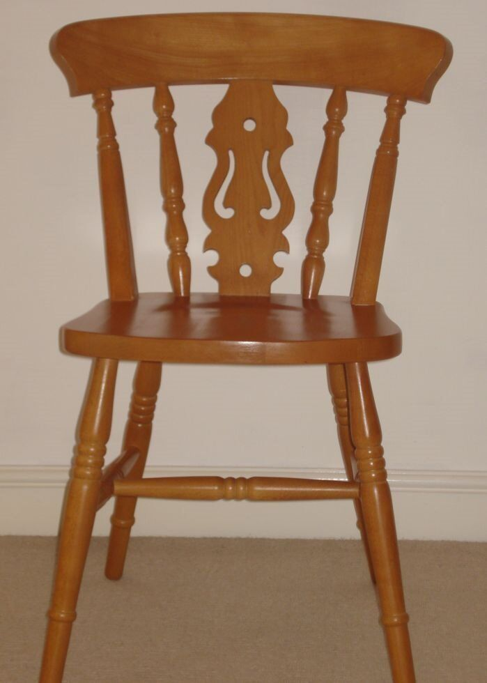 lacquered pine dining chairs in excellent condition in bradford on
