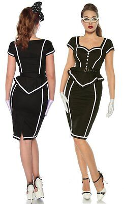Sexy 50er Jahre Pin Up Vintage Rockabilly Kleid Tanzkleid mit Gürtel