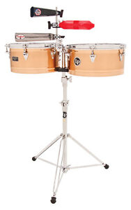 NEW LP LATIN PERCUSSION GIOVANNI PRESTIGE SERIES BRONZE TIMBALE DRUMS SET