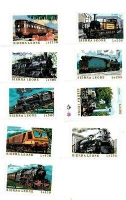 VINTAGE CLASSICS - Sierra Leone Trains - Set Of 9 Stamps - MNH
