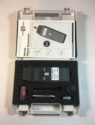 Electro Sensors Digital Hand Held Pocket Contact Tachometer Hh 100