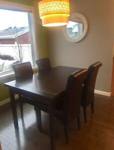 Espresso Finish Dining Table & 4 Chairs $500